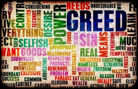 egoista: Avaricia, uno de los siete pecados capitales