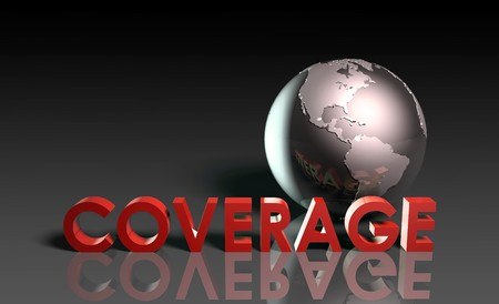 transmit: Global Coverage Service System Worldwide in 3d