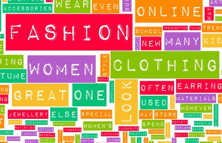 Fashion Industry Online as a Creative Abstract Stock Photo - 8517085