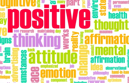 positive thinking: Thinking Positive as an Attitude Abstract Concept Stock Photo