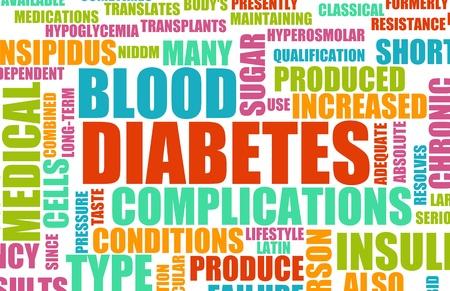 oorzaken: Diabetes als een medische voorwaarde Concept van de ziekte