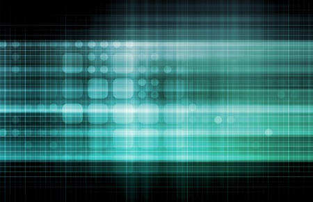 Technology Network with a Data Grid System Standard-Bild