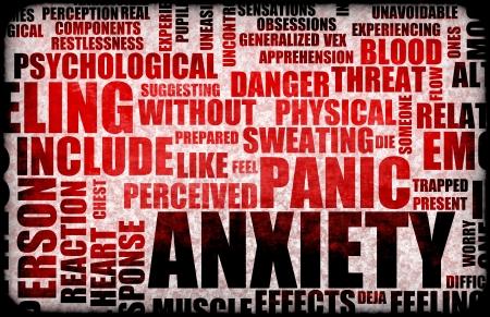 panique: Angoisse et de Stress et de ses qualit�s destructrices Banque d'images