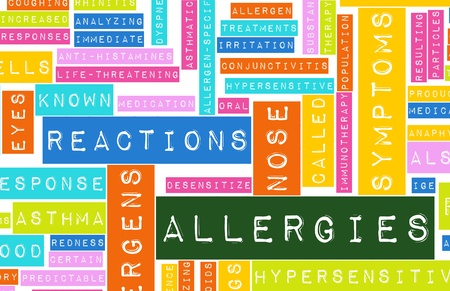 Allergies and the Allergic Symptoms as a Concept Stock Photo - 8563216