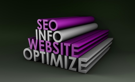 optimizing: Search Engine Optimization Info on a Website Stock Photo