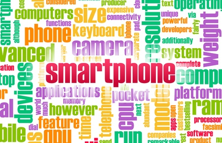 Smartphone Industry as a Word Cloud Concept Stock Photo - 8581566