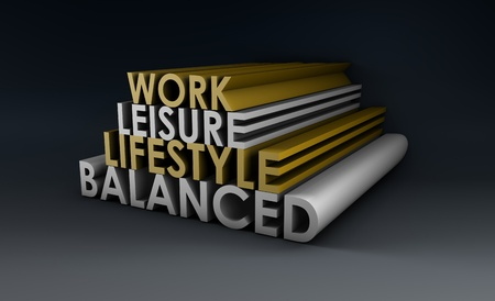 flexible business: Balanced Lifestyle Concept as a Abstract in 3d Stock Photo