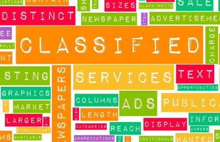 구매 및 판매 서비스에 대한 분류 된 광고