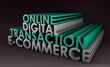 Online Digital Transaction in a E-Commerce Site Stock Photo - 8613843