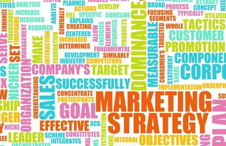 ビジネスでの概念としてのマーケティング戦略 写真素材