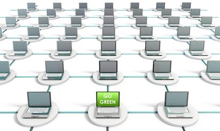 PC のコンピューター ネットワーク上の緑の技術