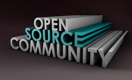 source: Open Source Community Concept in 3D Art