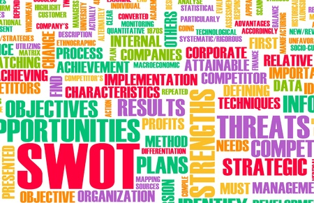 SWOT Analysis to Identify an Individual Concept Stock Photo - 8620395