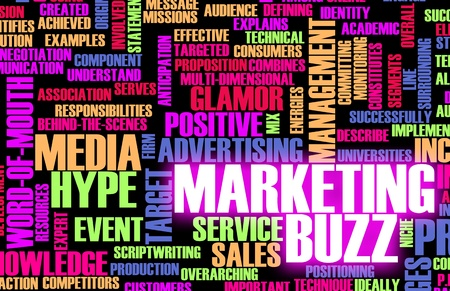 sales person: Marketing Buzz and Building the Hype as Concept Stock Photo