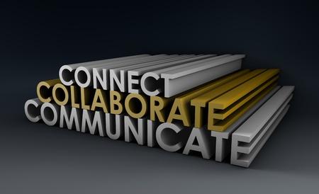 Teamwork Essentials für ein erfolgreiches Team in 3d Standard-Bild