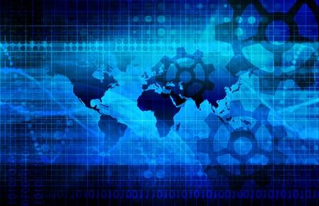 グローバル マップ スケールに産業の背景
