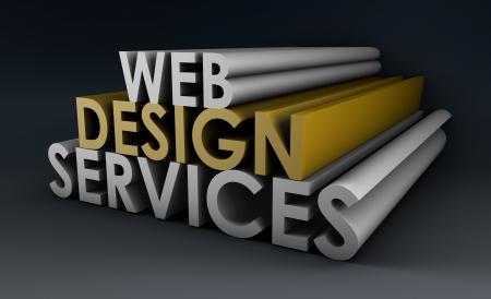 Servicios de diseño de la Web como un concepto en 3d Foto de archivo