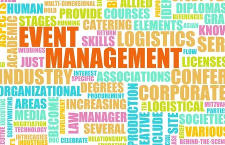 Industria de servicios de gestión de eventos como un arte Foto de archivo - 8632401