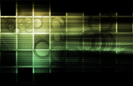 black textured background: Abstract Glowing Background with a Technology Art