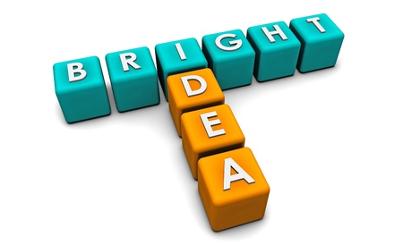 Bright Idea in Simple and Creative 3D Blocks Stock Photo - 8657477