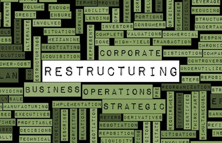 Restructuring and Downsizing in a Company Concept photo