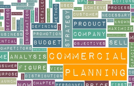 Commercial Planning in a Business Company Concept Stock Photo