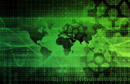 개념으로 기술의 글로벌 통합 스톡 콘텐츠