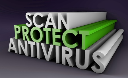 Antivirus to Protect and Scan Your PC System Stock Photo - 8686144