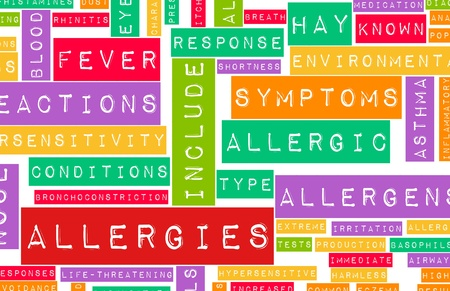 Allergies and the Allergic Symptoms as a Concept Stock Photo - 8686151