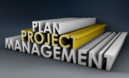 Projectplanning en beheer in 3D formaat Stockfoto