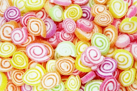 sugary: Colorful Candy in a Large Pile as a Abstract