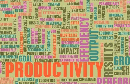 productividad: Aumentar la productividad en el arte de la Oficina de negocios Foto de archivo