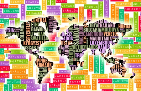 Travel the World Concept with All Countries