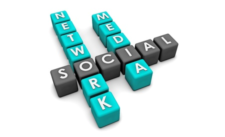 Social Media Network on the Internet in 3d Stock Photo - 8755214
