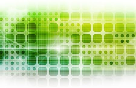 Bedrijfstechnologie met een collectieve abstracte kunst