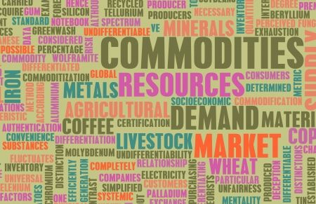 Commodities Trading on a Global Scale as Concept Banque d'images