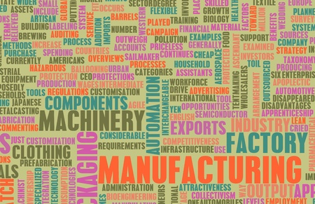 Manufacturing Machinery Process as a Art Concept