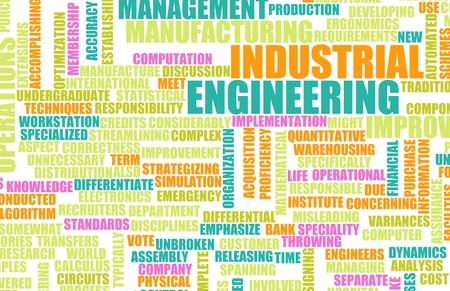 industrial machine: Industrial Engineering Job Career as a Concept Stock Photo