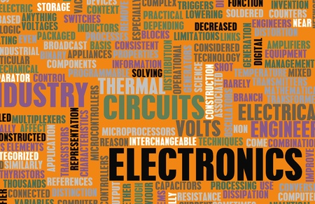 electronic circuit: Electronics Industry and Other Business Terms Art Stock Photo