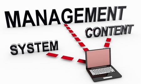 Content Management System on Document in 3D Stock Photo - 8778077