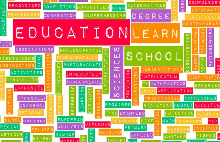 Education Sector and Other Related Terms as Art photo
