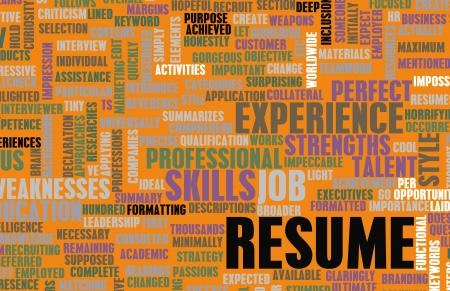 curriculum: Job Resume of a Well Written CV Concept