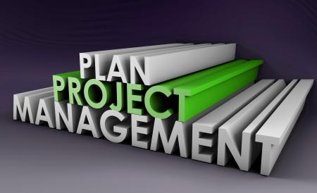 gestion documental: Planificación de proyectos y gestión en formato 3D Foto de archivo
