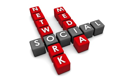 Social Media Network on the Internet in 3d Stock Photo - 8820651