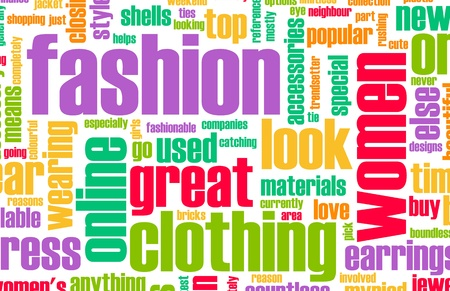 創造的な抽象としてオンライン ファッション業界 写真素材