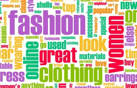 kledingwinkel: Mode-industrie Online als een creatieve Abstract Stockfoto