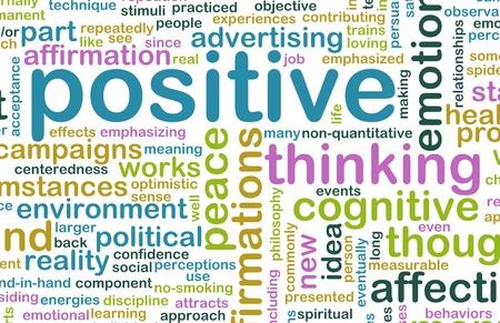 Denken positief als een Abstract begrip houding