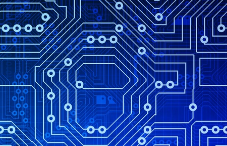 electronic circuit: Computer Circuits Background Texture as a Design Stock Photo