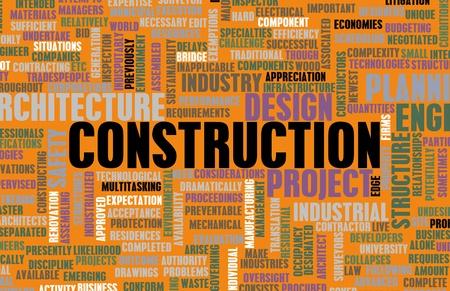 infraestructura: Industria de la construcci�n y otros negocios Word Art Foto de archivo