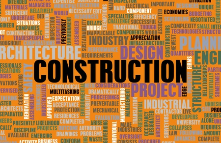 infrastructures: Industrie de la construction et d'autres affaires Word Art